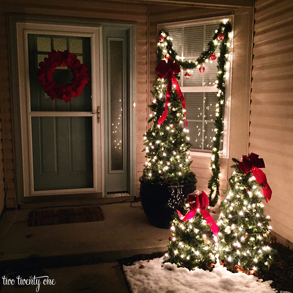 front porch decorated for christmas - Outdoor Christmas Ornaments
