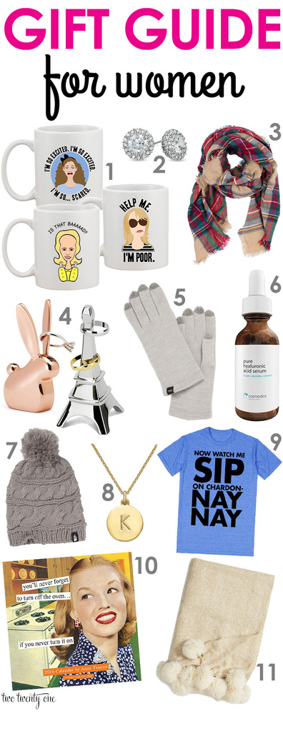 Gift guide for women! Great ideas for under $80!