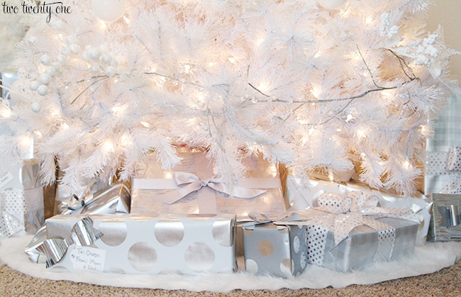 white and silver gifts