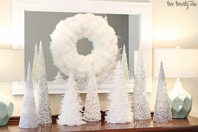white christmas vignette