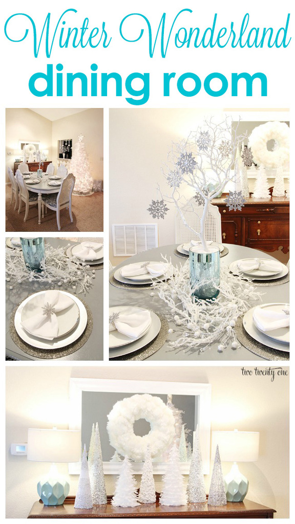 Winter Wonderland dining room!
