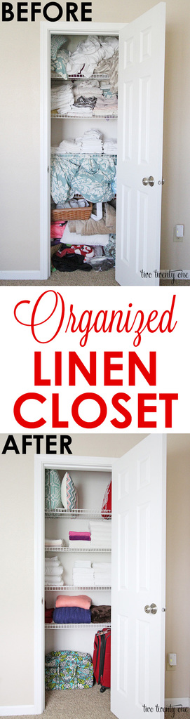 Organized linen closet! Helpful tips and tricks!