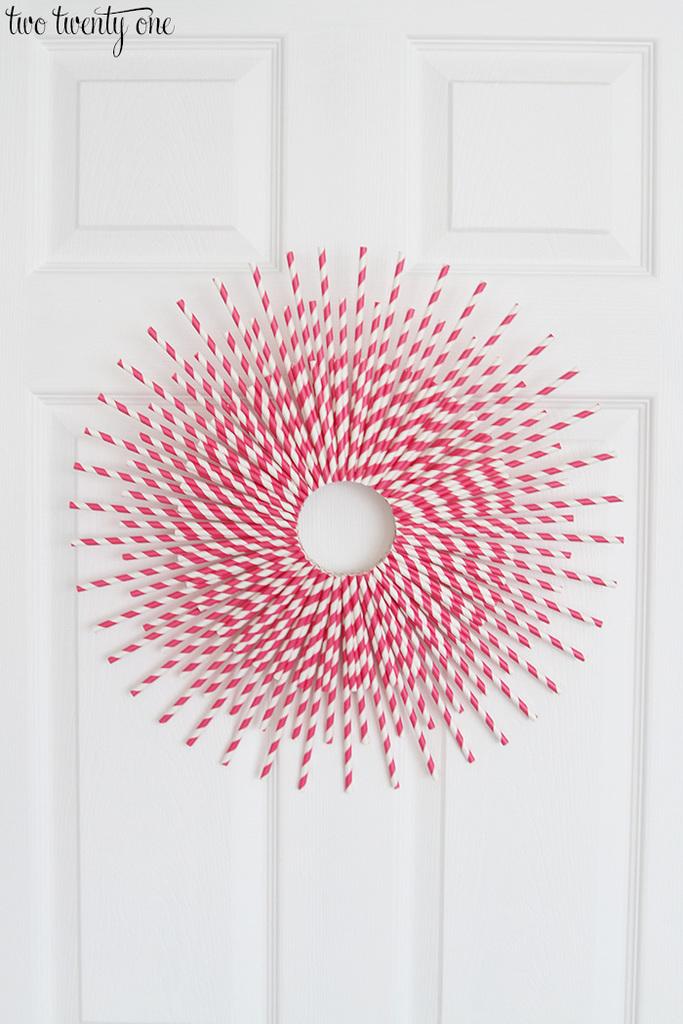 Paper Straw Wreath