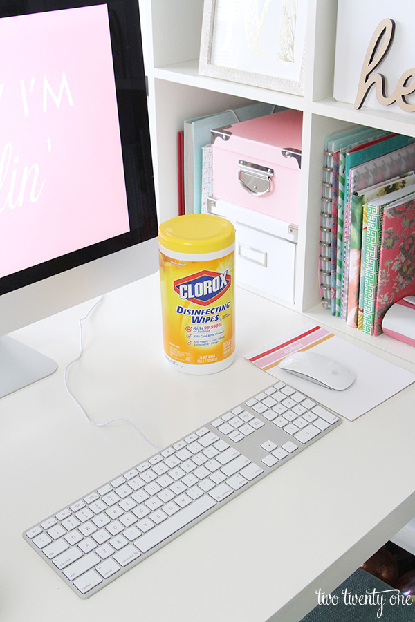 disinfecting keyboard and mouse