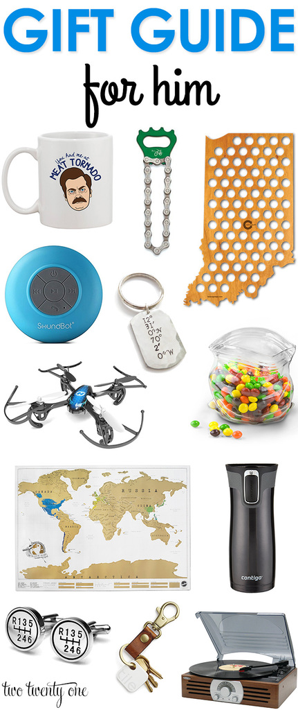 Gift guide for him! Great ideas!