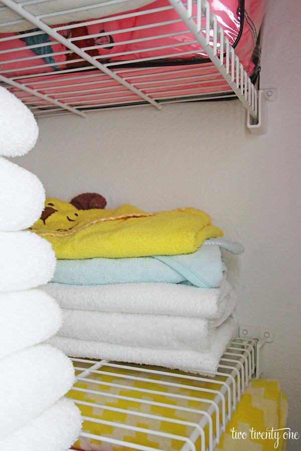 linen closet towels