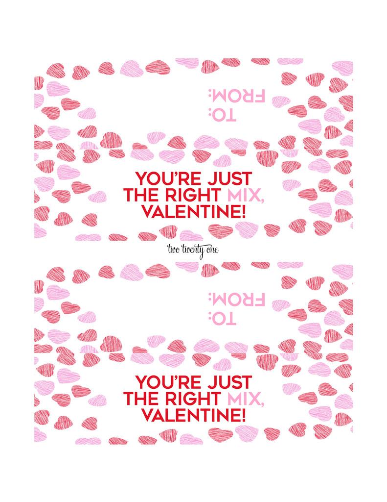 valentine u0027s day snack mix free printable