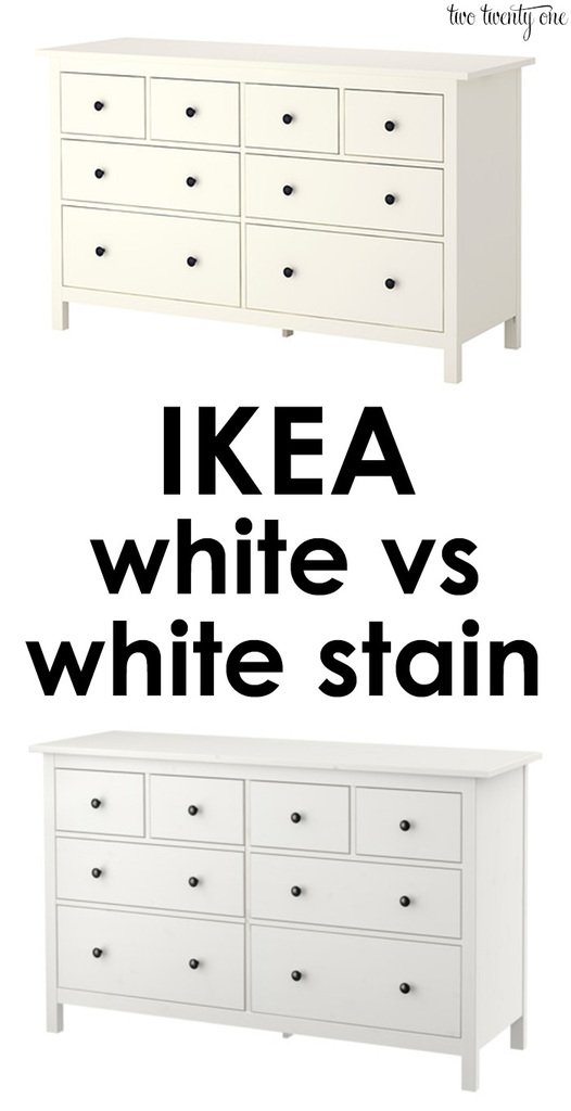 An explanation of the difference between IKEA white and white stain  finishes  Great info to. Difference Between IKEA White and White Stain