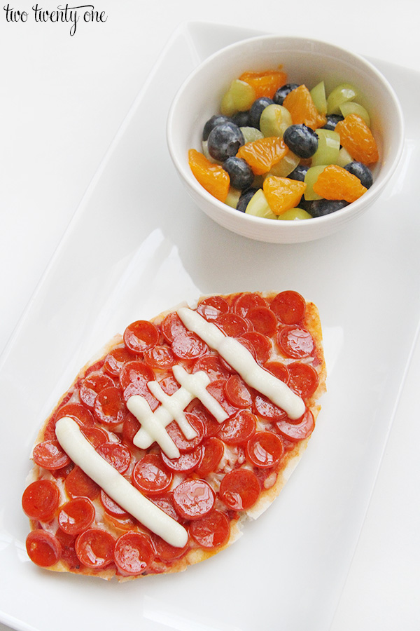 football ball pita pizzas
