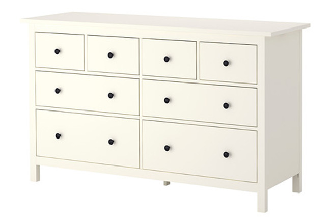 Hemnes Drawer Dresser White 0236295 Pe376030 S4