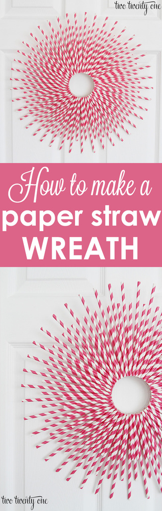 How to make a paper straw wreath!