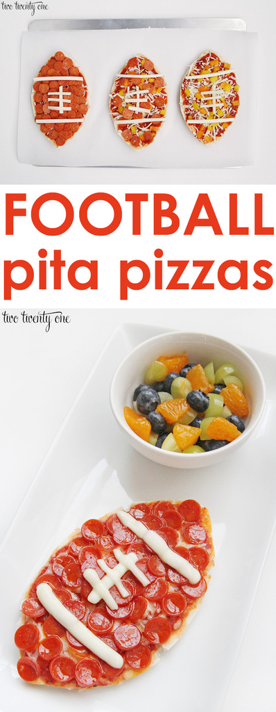 How to make football pita pizzas! Perfect for game day!