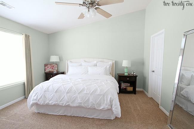 agreeable gray bathroom. master bedroom before Master Bedroom Paint Mock Ups