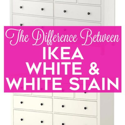 Difference Between IKEA White and IKEA White Stain