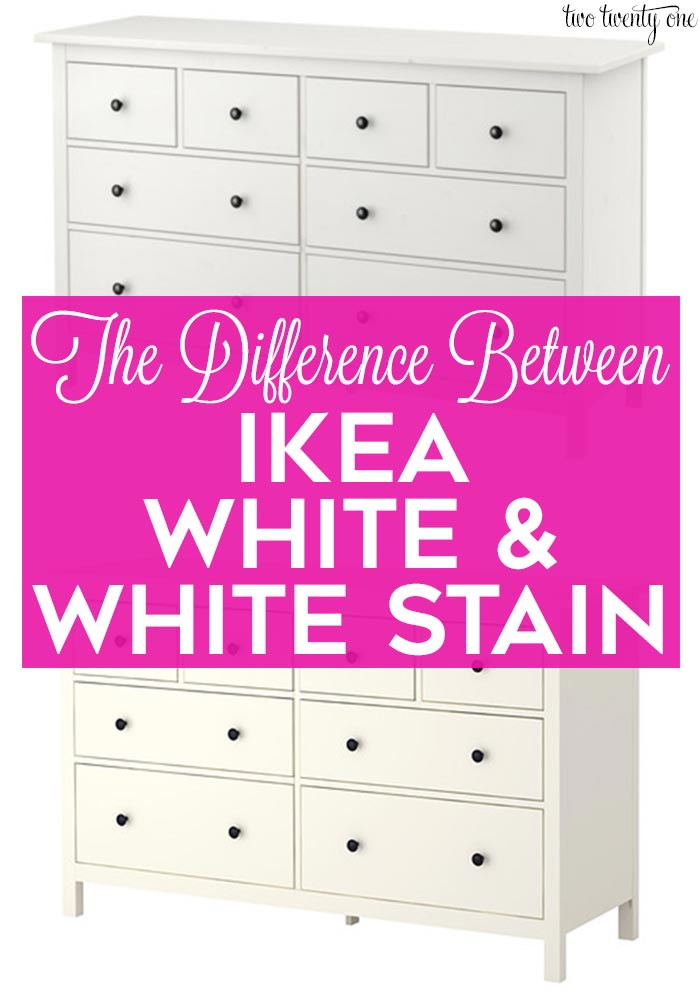 Difference Between Ikea White And Stain
