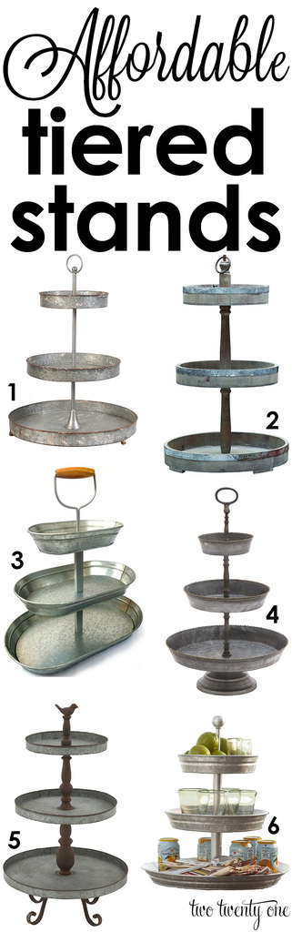 Love these tiered trays! Perfect for any home!