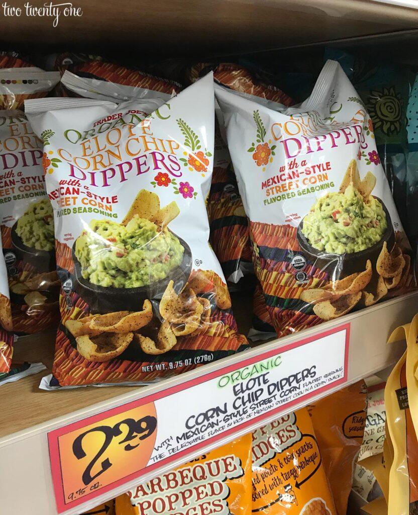 Trader Joe's elote corn chip dippers