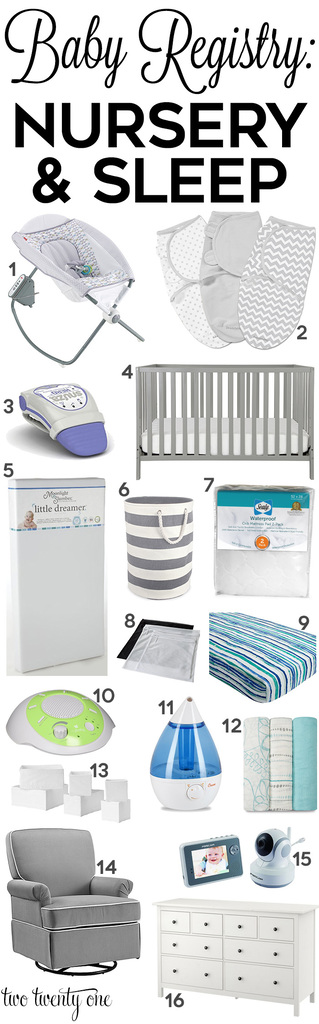 Must have nursery and sleep products to add to your baby registry!