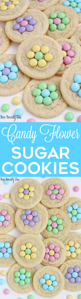 Candy flower sugar cookies! Perfect for spring!