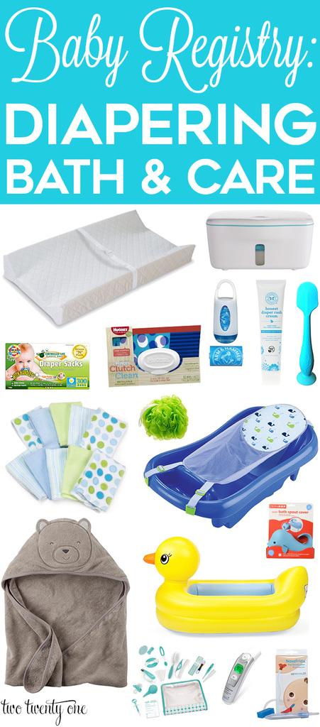 Baby Registry: Diapering, Bath, & Care