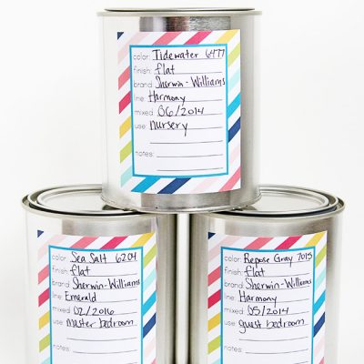 Paint Can Labels