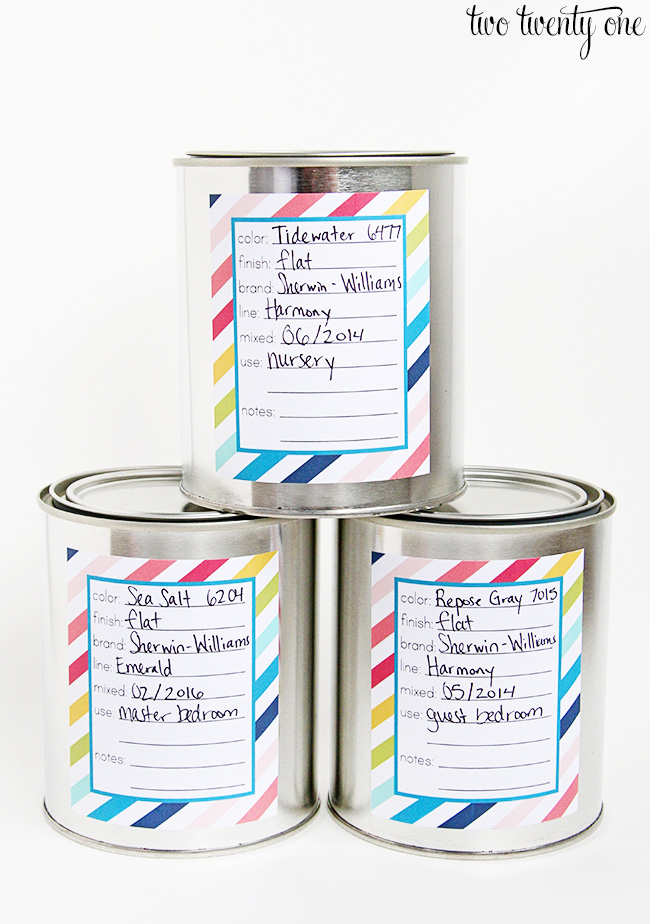 free paint can labels