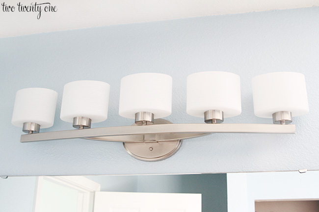 Cool bathroom lighting fixture
