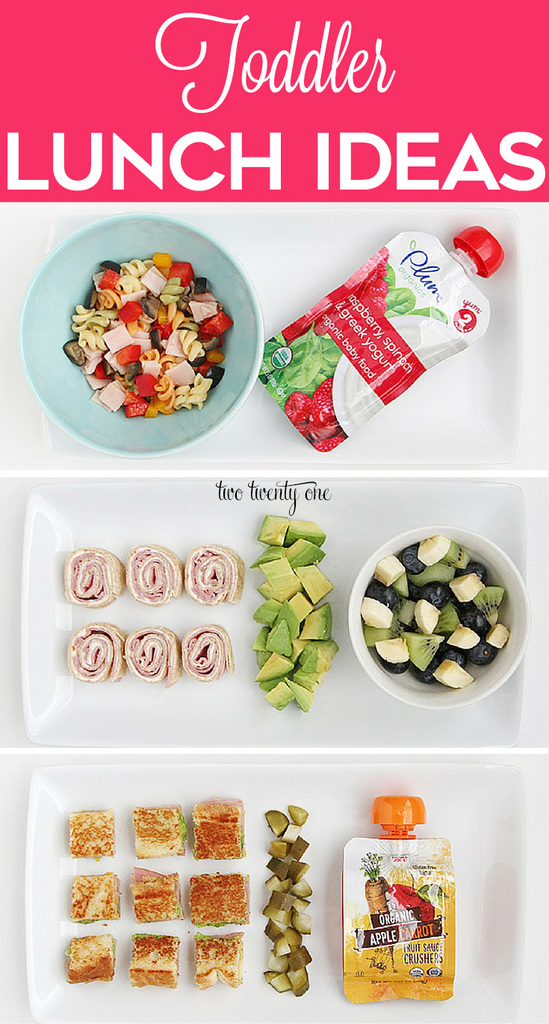 Delicious and nutritious toddler lunch ideas!