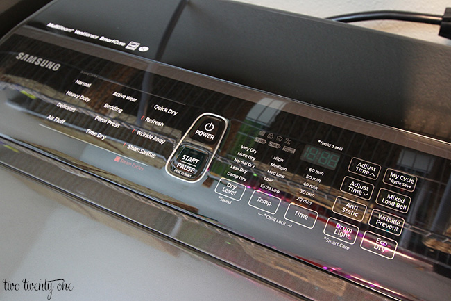 samsung activewash dryer control panel