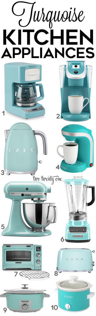 superior Turquoise Small Kitchen Appliances #4: Aqua Small Kitchen Appliances - Let?s start with the turquoise appliances.  Let?s ...