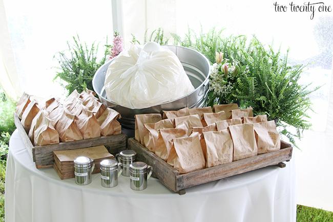 wedding popcorn bar