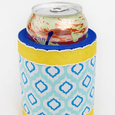 Fabric Covered Koozies