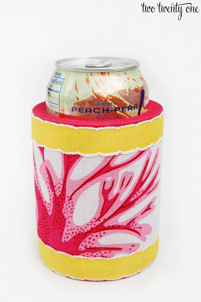 DIY Fabric Covered Koozie