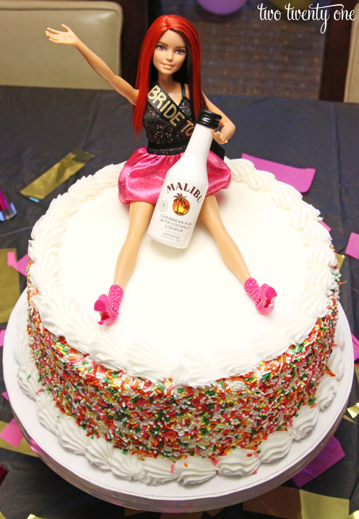 Bachelorette party Barbie cake