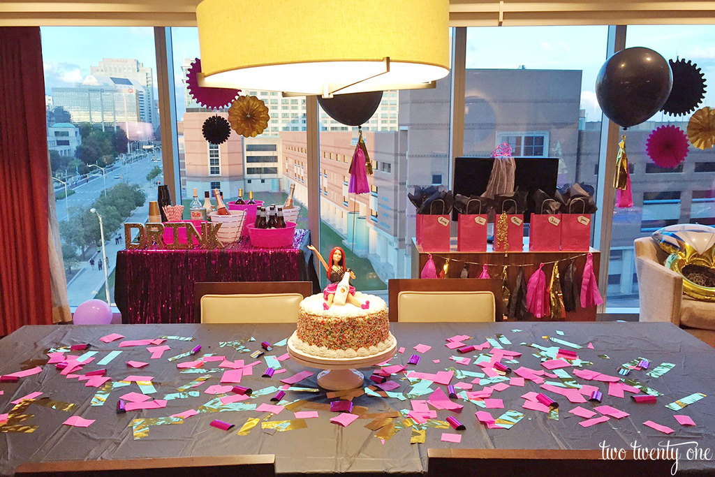Bachelorette party table decorations & Indianapolis Bachelorette Party