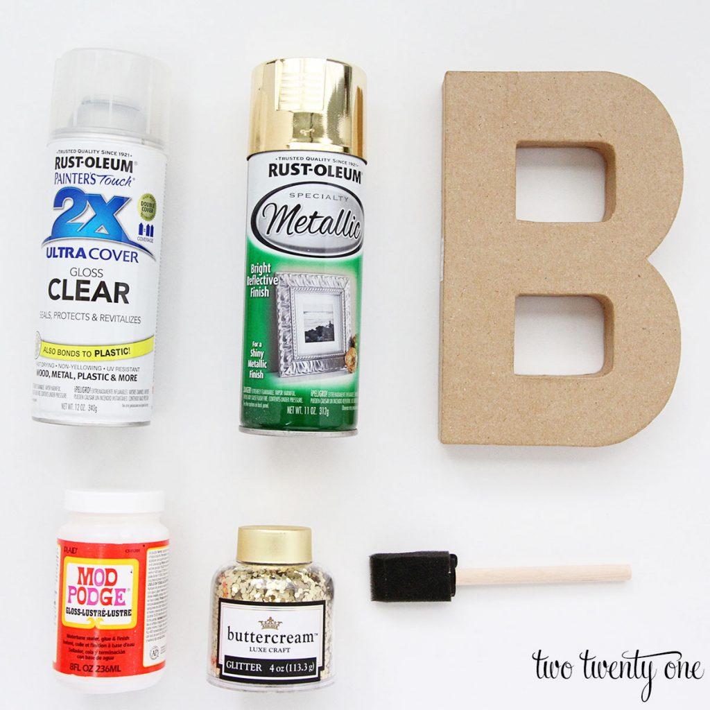 glitter-letter-materials