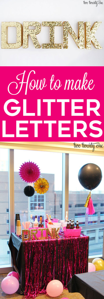 How to make glitter letters! Great step-by-step tutorial!
