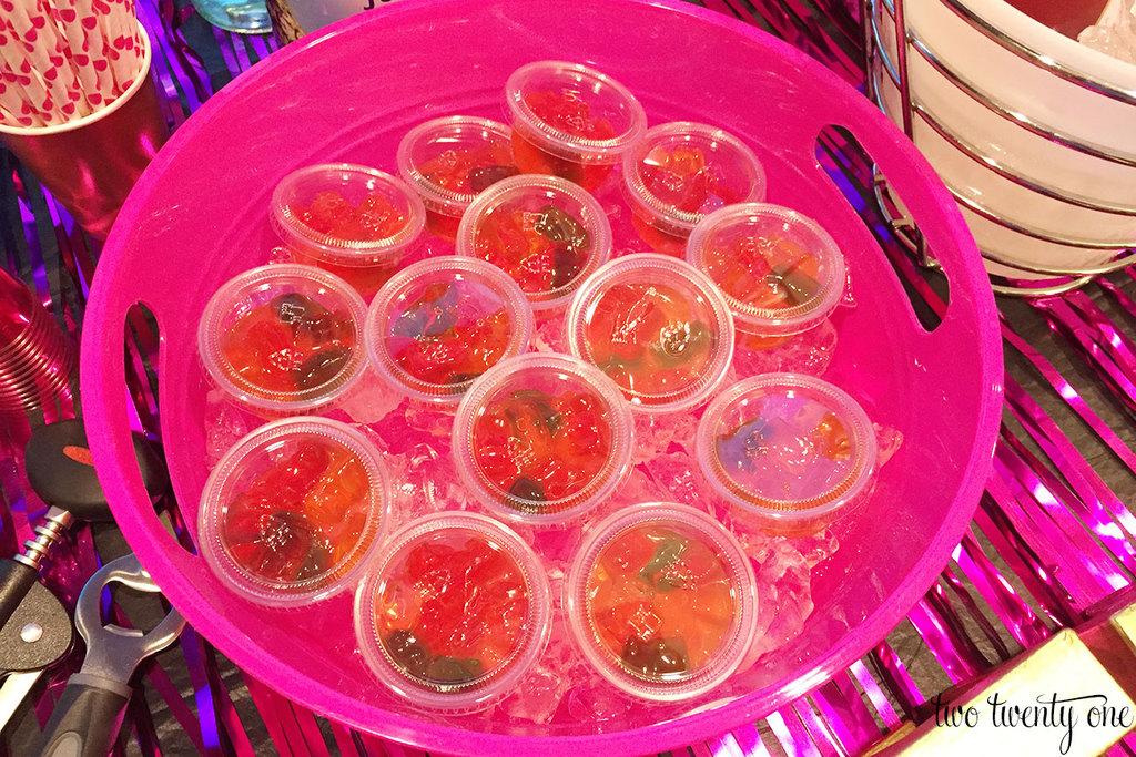 Mango rummy bears-- mango rum soaked gummy bears
