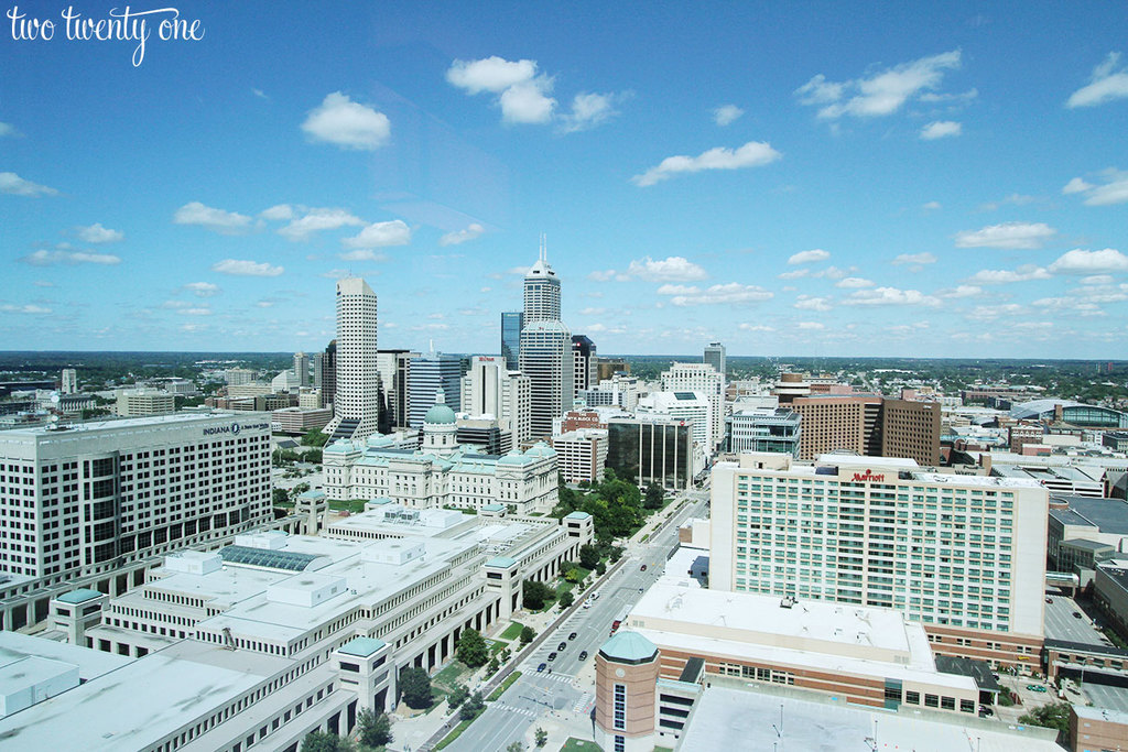 View from 31st floor of JW Marriott Indianapolis
