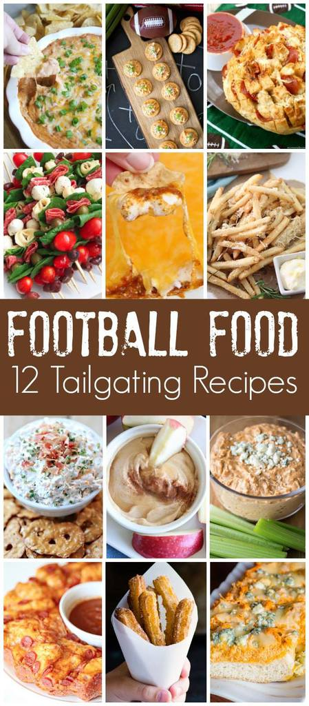 12 tailgating recipes! Perfect for game day!