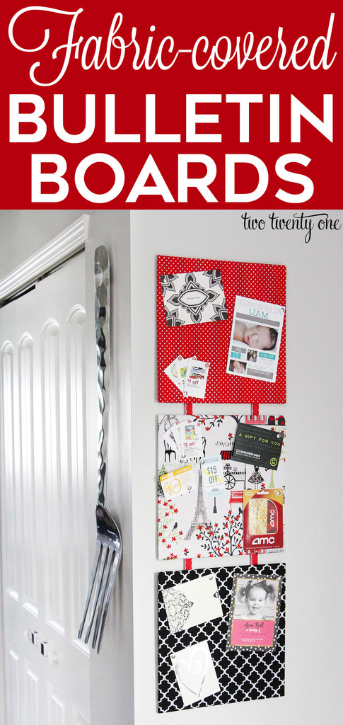How to make fabric covered bulletin boards! These are easy to make and inexpensive! #ad