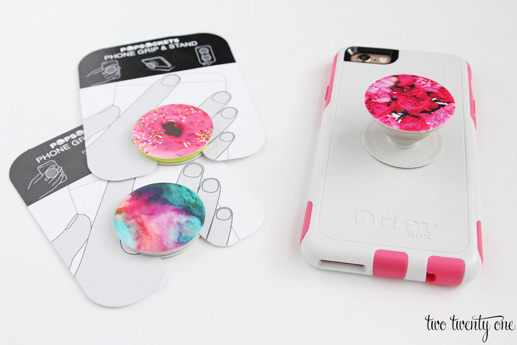 Popsockets -- phone grip and phone stand that expands and collapses using an accordion mechanism