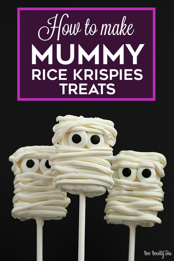 How to make mummy rice krispies treats!