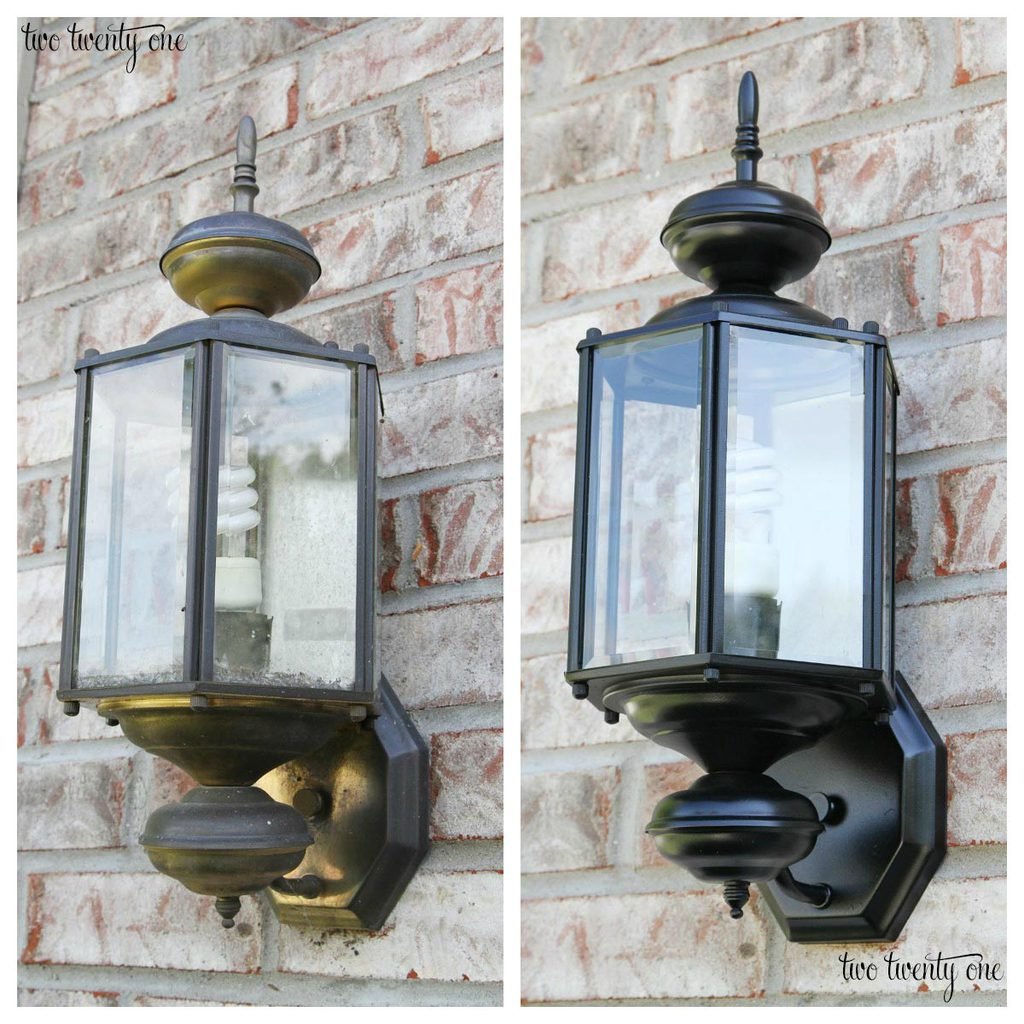 Outdoor light makeover! How to make your outdoor lights look like new without breaking the bank!