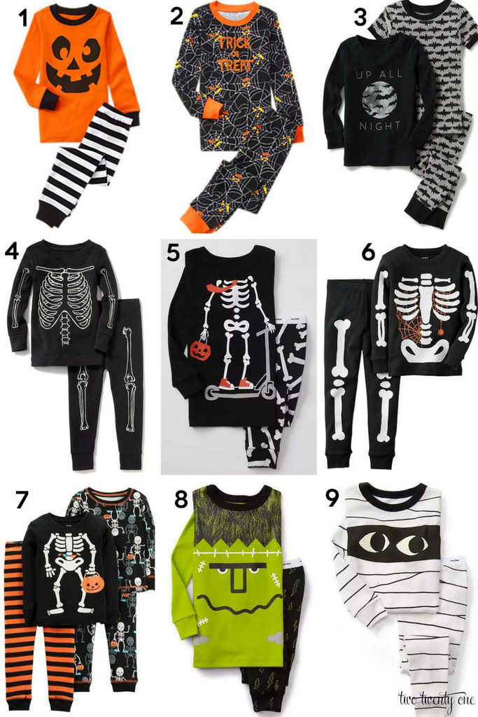 adorable boy halloween pajamas