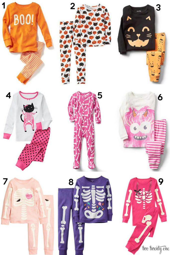 Cute toddler girl Halloween pajamas!