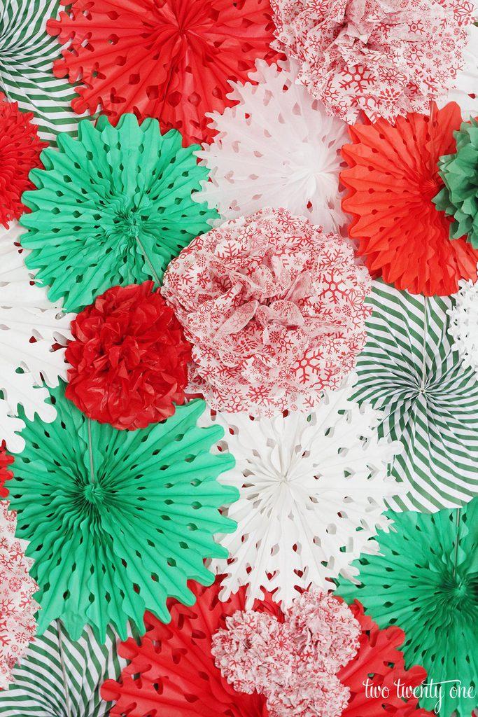 Diy Tissue Paper Pom Pom And Fan Backdrop