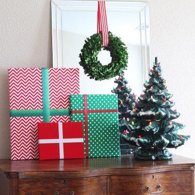 Fabric Christmas Present Decorations