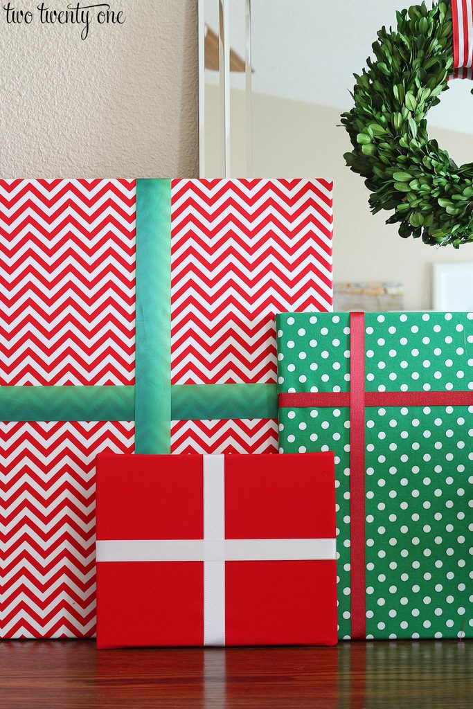 fabric covered christmas gift decorations