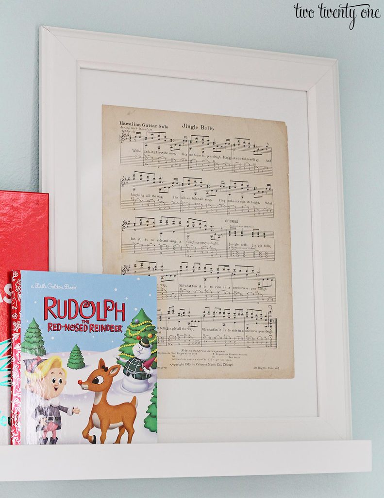 framed-christmas-sheet-music